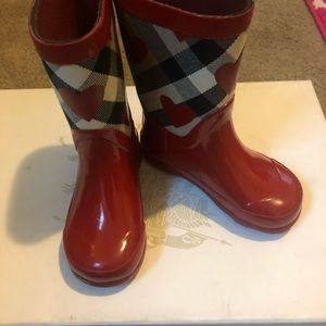 100% Authentic Toddler Girls Burberry Rain Boots
